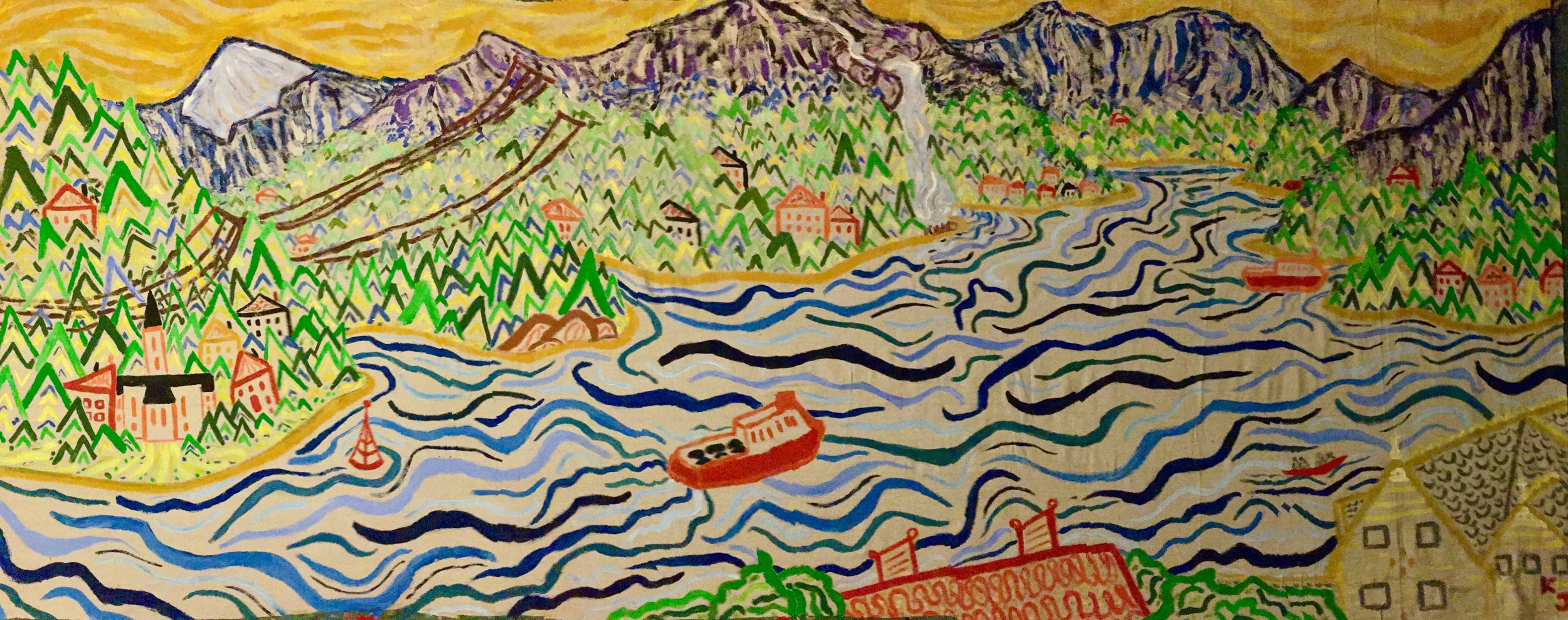 Finished painting - Balestrand, Norway