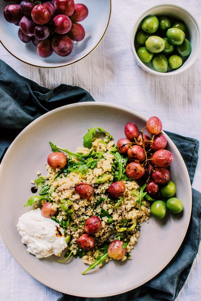 Roasted Grape Quinoa Salad with Balsamic Arugula.JPG