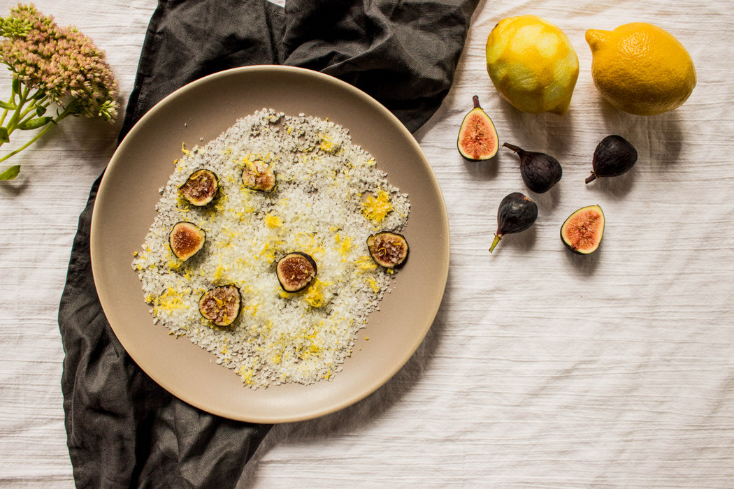 Infused Finishing Salt with Figs + Lemon