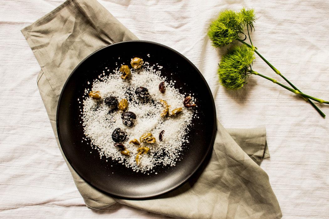 Infused Finishing Salt with Greek Olives