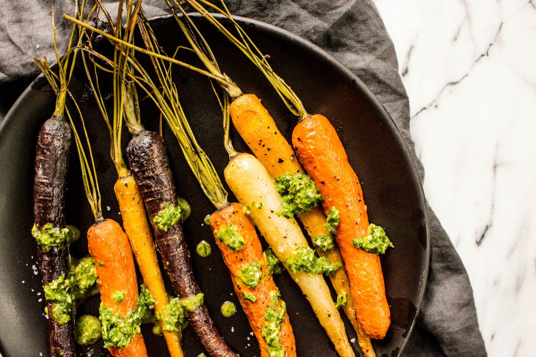 Roasted Carrots with Chimichurri Sauce