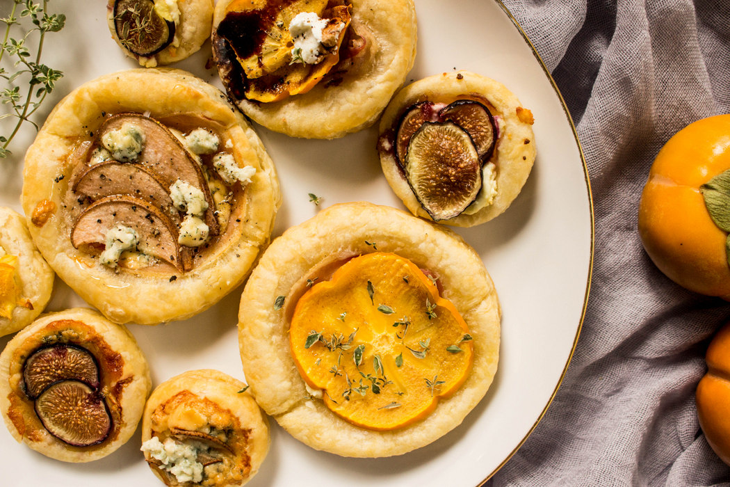 Persimmon, Fig + Pear Tarts