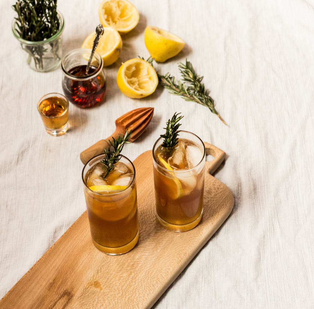 Maple Bourbon Cocktail with Rosemary