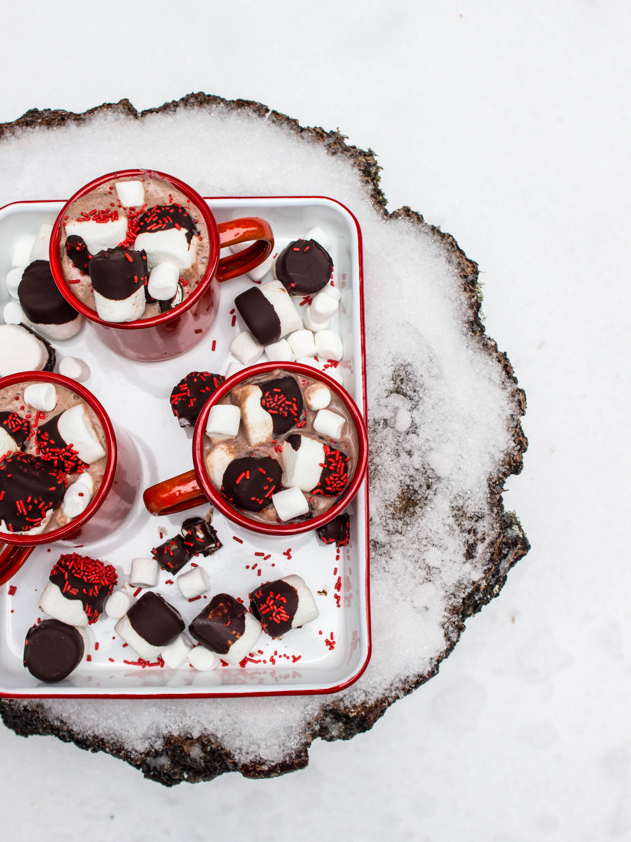 Hot Cocoa with Chocolate Covered Marshmallows