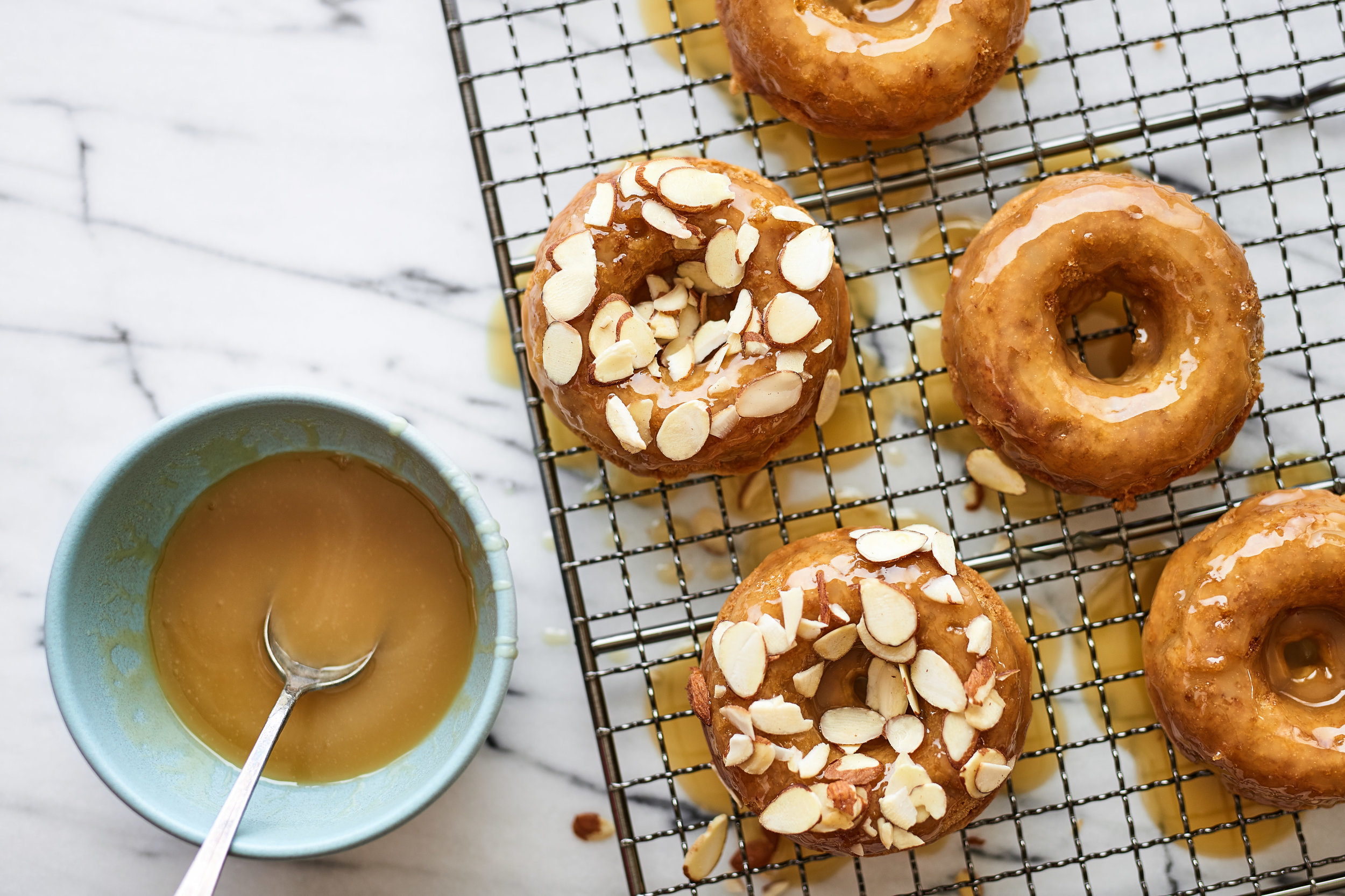Baked Apple Donuts with Coconut Maple Glaze