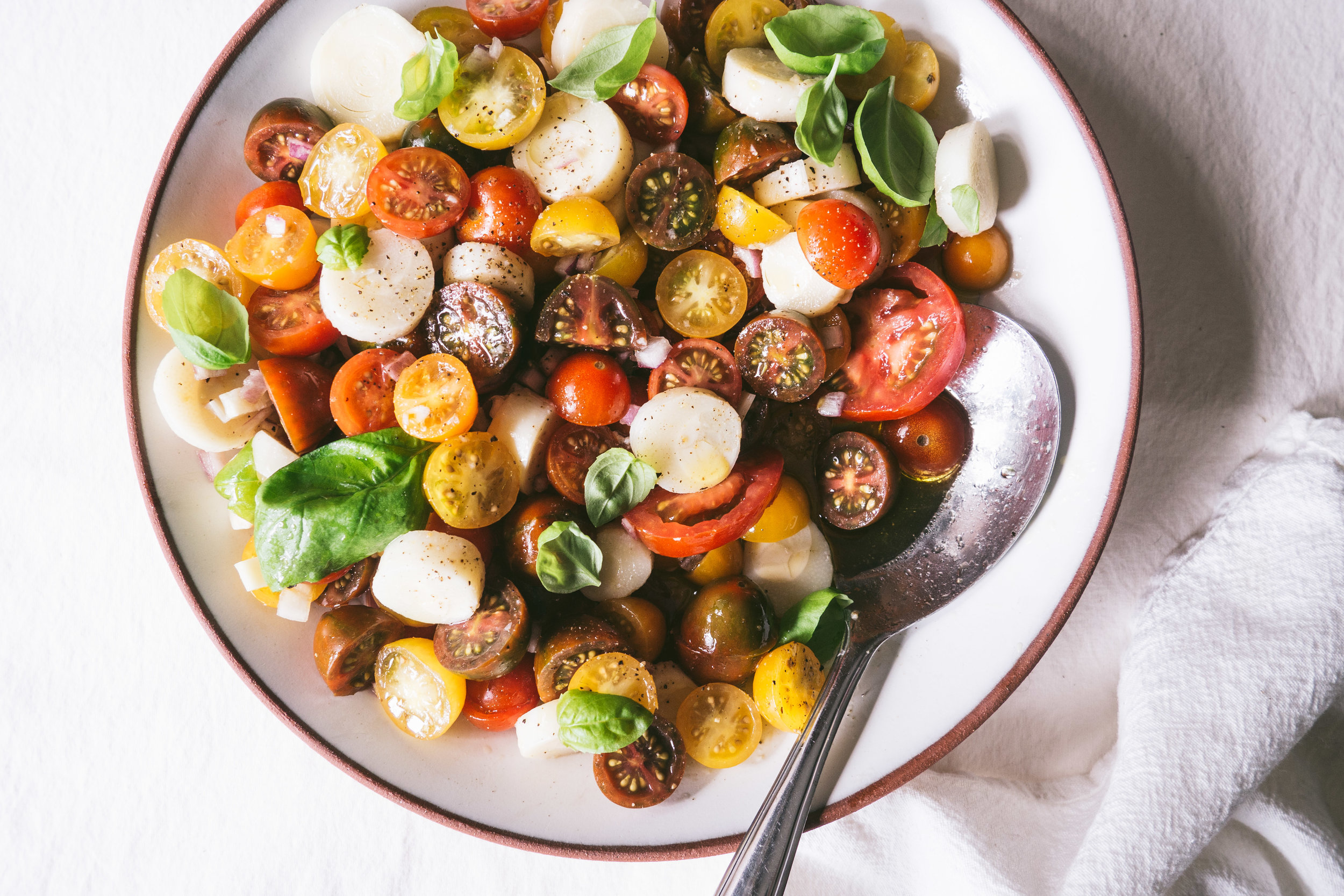Heirloom Tomato Salad with Hearts of Palm