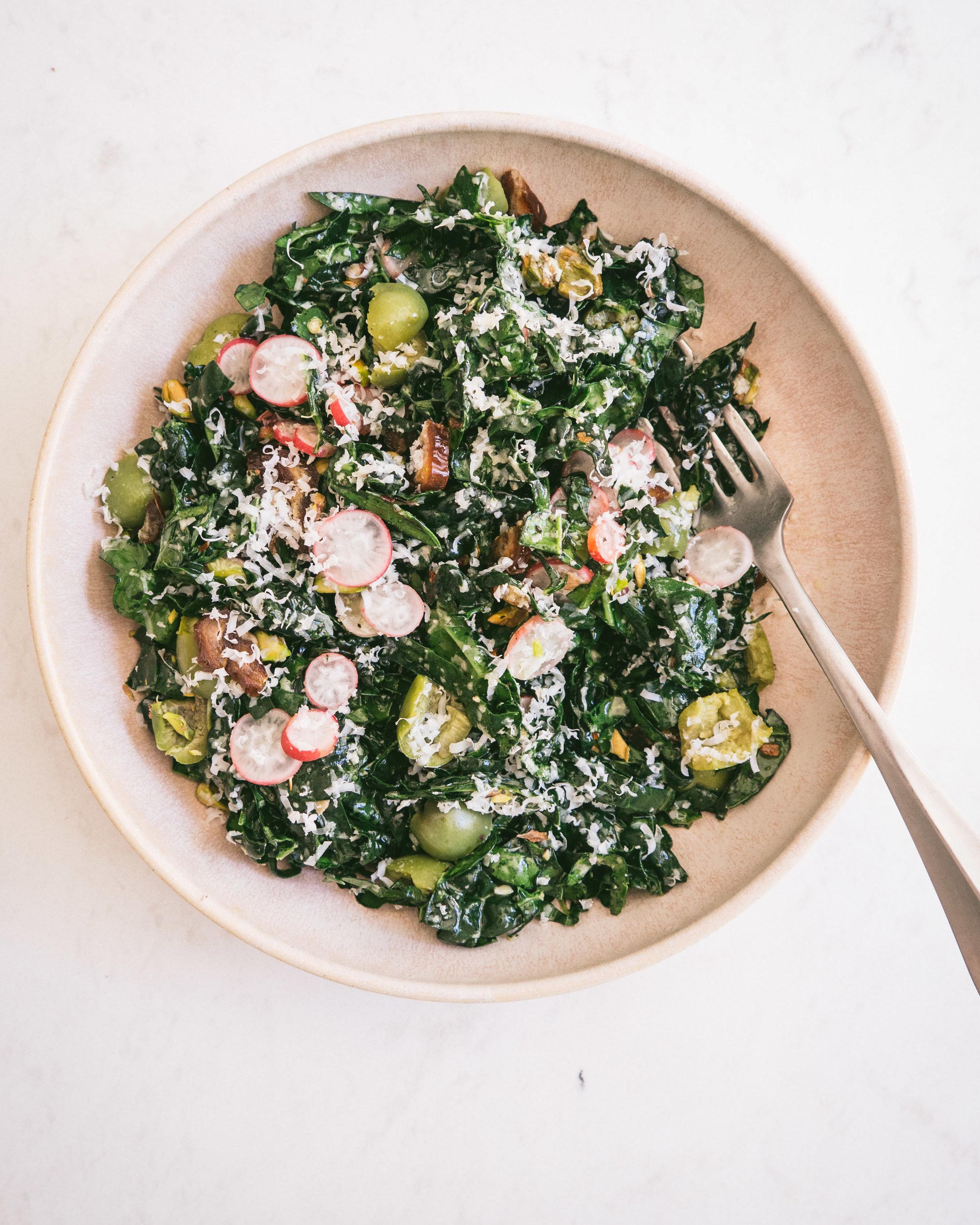 Clean Out the Fridge Kale Salad