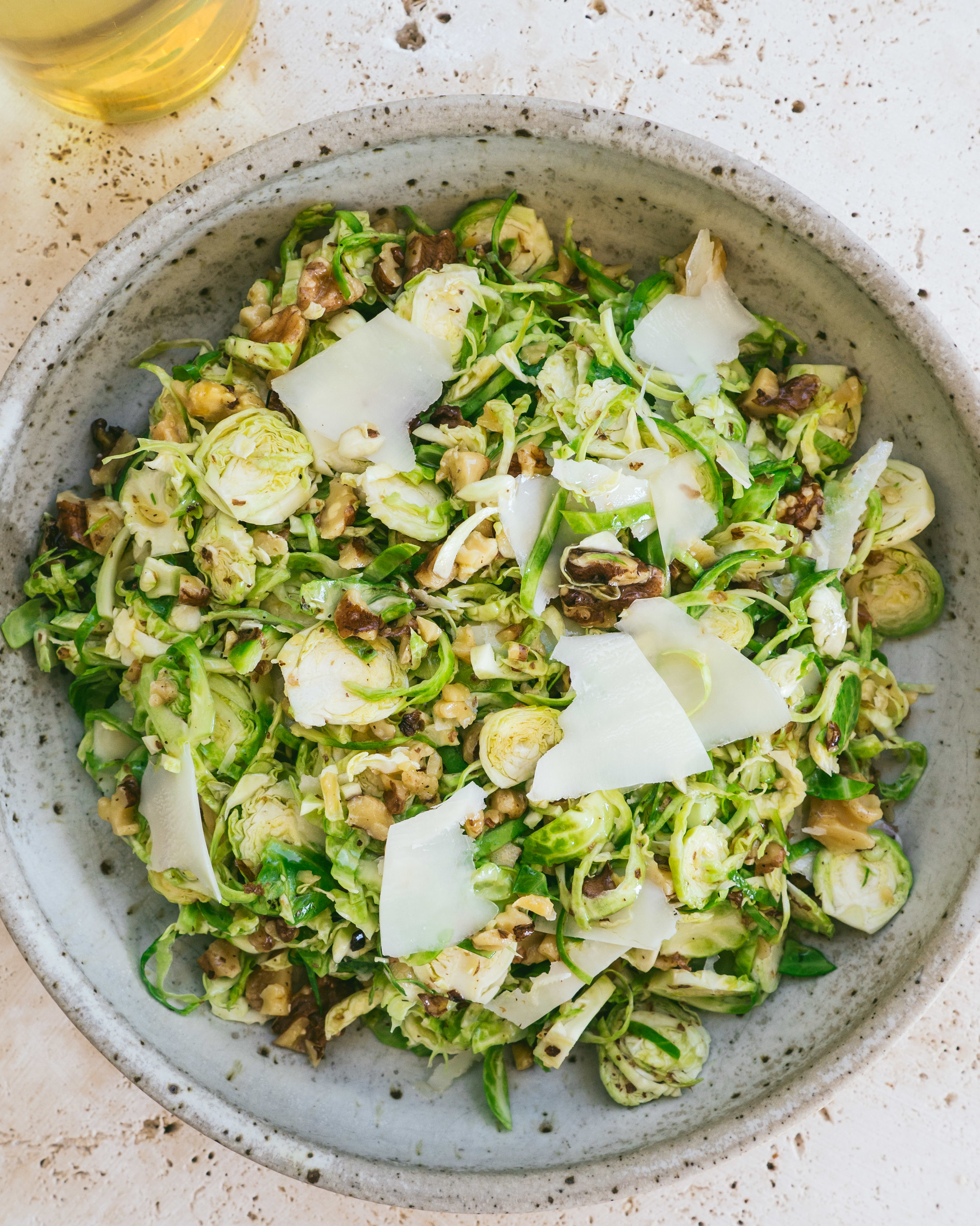 Brussels Sprout & Walnut Salad