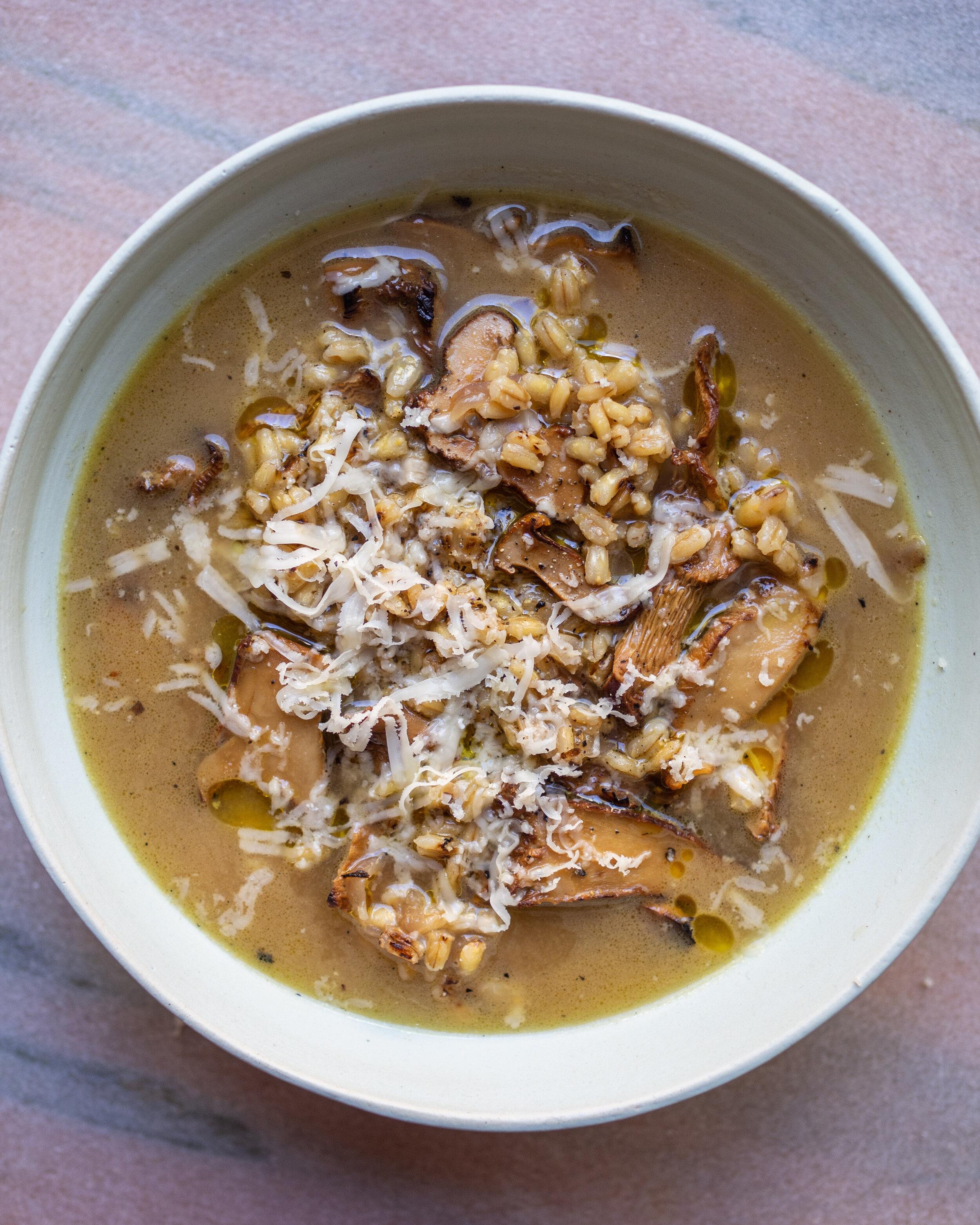 Barley Mushroom Soup || Local Haven