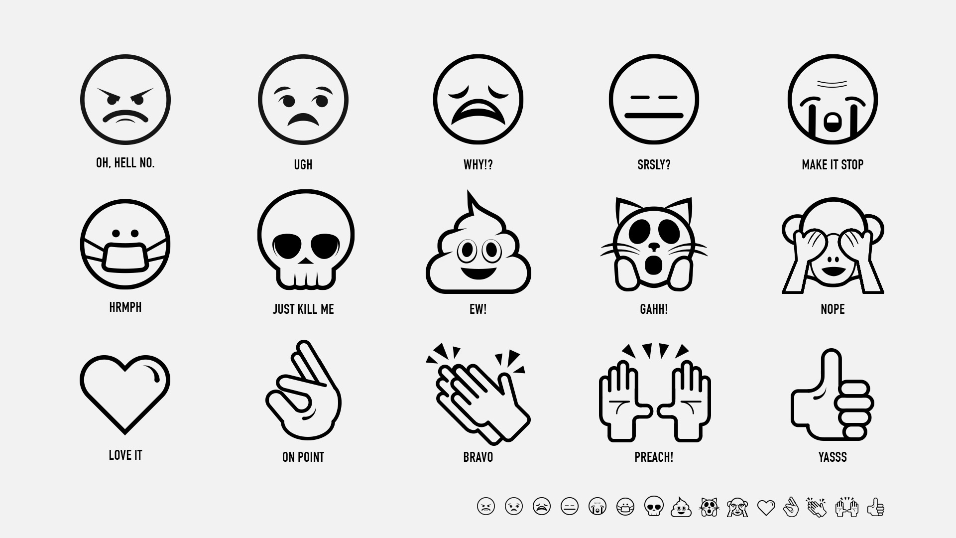 Visual treatment of emojis
