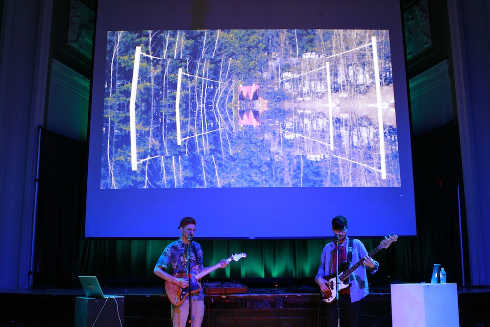 Moth Vegas performs at the premiere of Geena Matuson's (@geenamatuson) thesis film 'My Big Bad Wolf' at Massachusetts College of Art & Design, 2013.