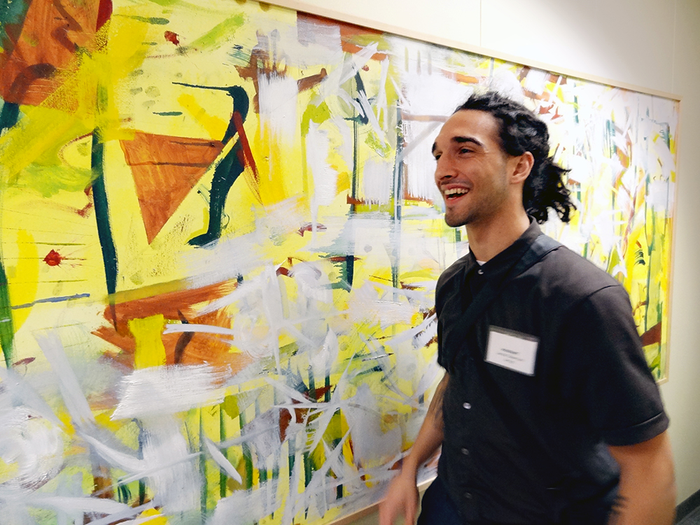 Jacob Giberson  and painting, 2013.