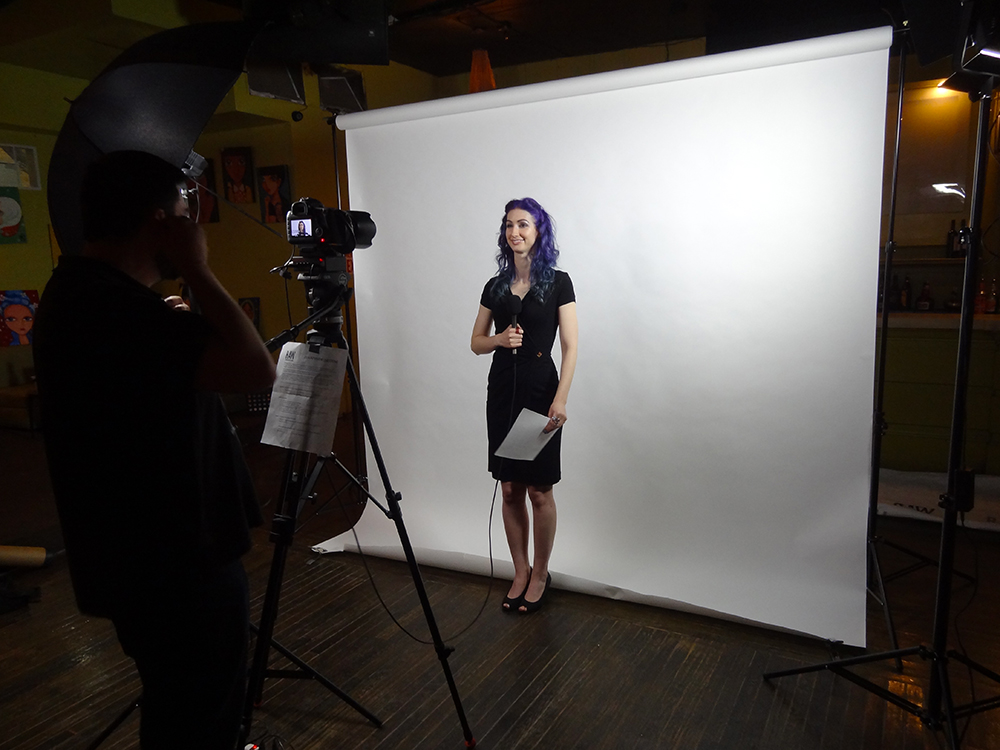 Geena Matuson (@geenamatuson) delivers interview at RAW Artists, May 2014.