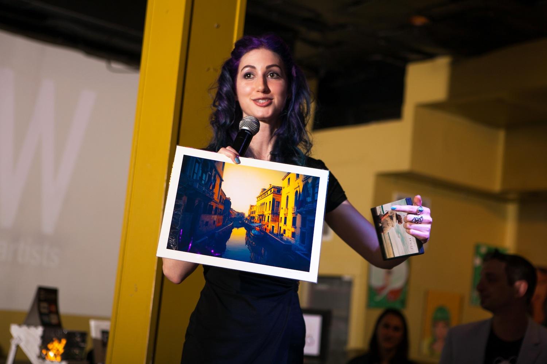 Geena Matuson (@geenamatuson) at RAW Artists REVOLUTION event, May 2014.
