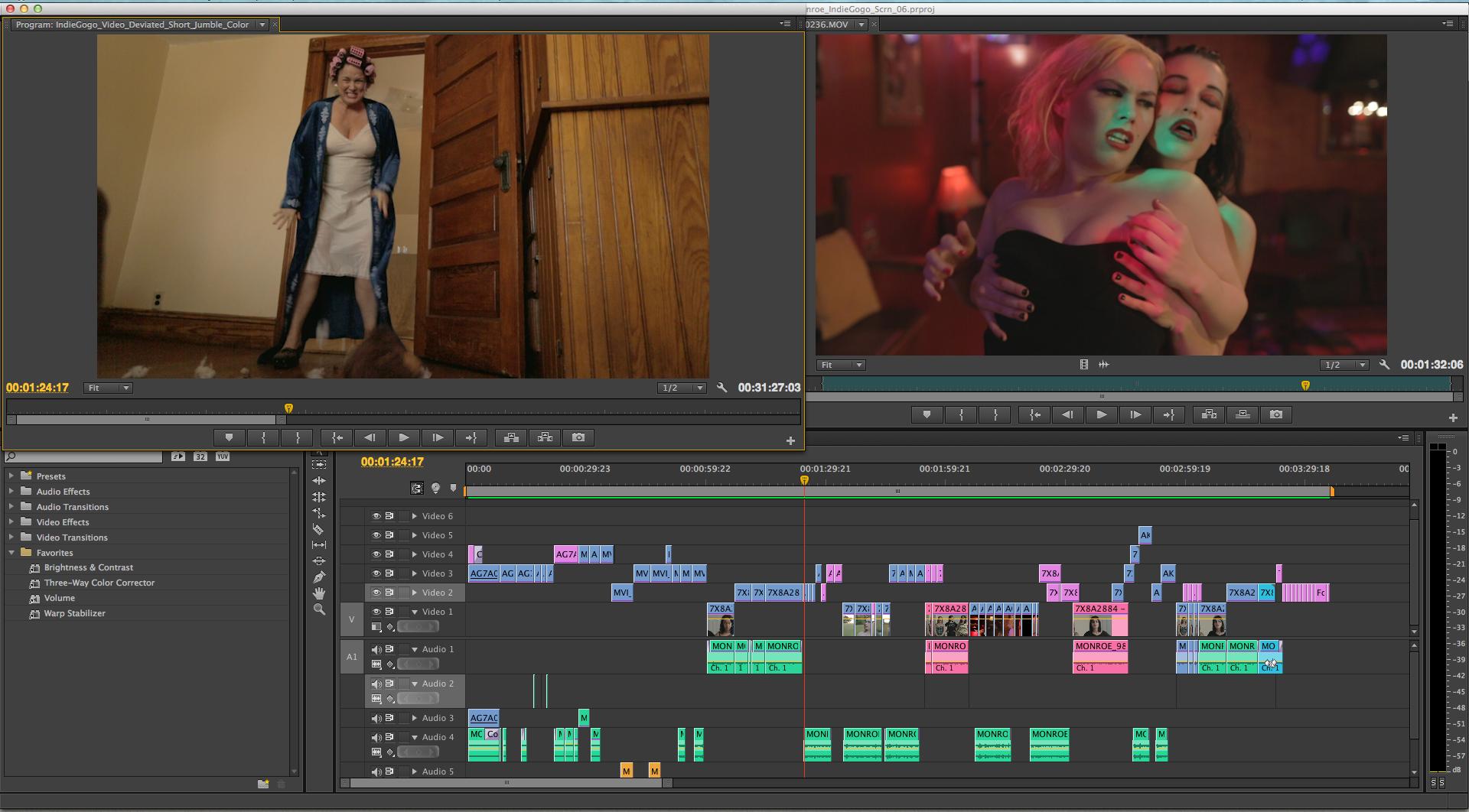 Geena Matuson (@geenamatuson) edits IndieGogo campaign video to finish second half of 'I Am Monroe?'