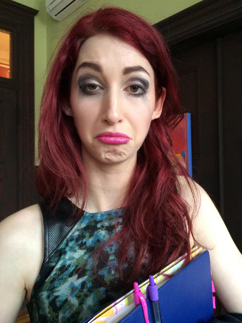 Geena Matuson (@geenamatuson) on set of Disregard The Vampire, 2014.