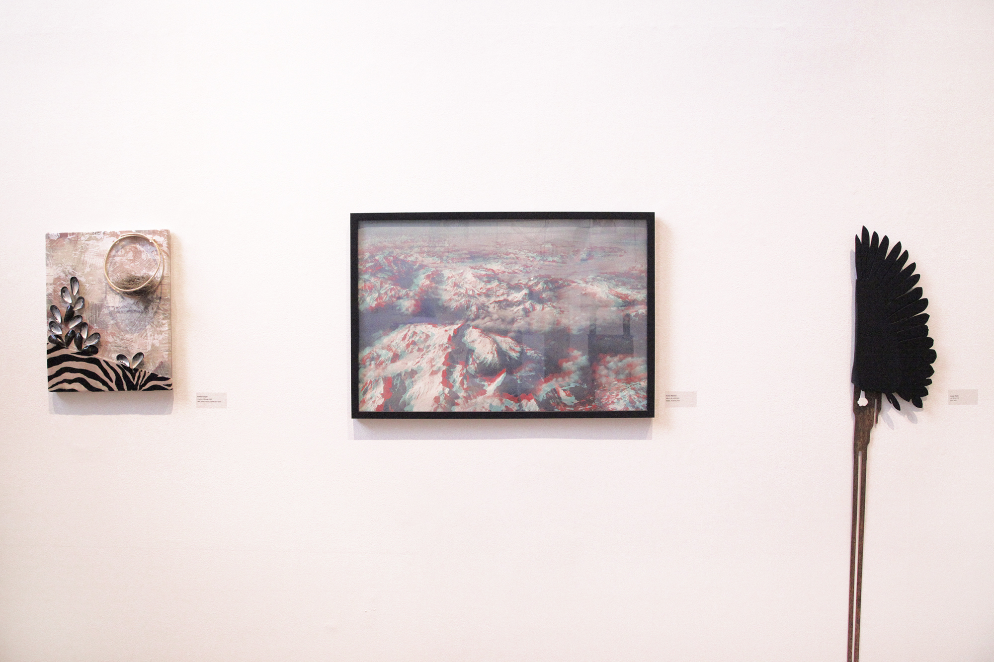 Geena Matuson's (@geenamatuson) framed work 'Alps in 3D' in MassArt Graduating Senior Exhibition, 2013.