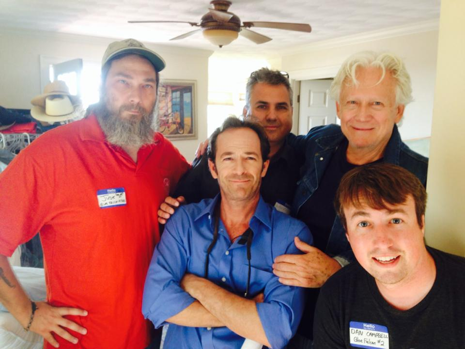 Producers of Blue Falcon Productions, Director Daniel Zirilli with Luke Perry and Bruce Davison, 2014.