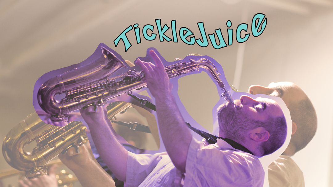 Social media and graphics for James Merenda band 'TickleJuice' created by Geena Matuson. Original photograph by David Aquilina of StarKindler Images.
