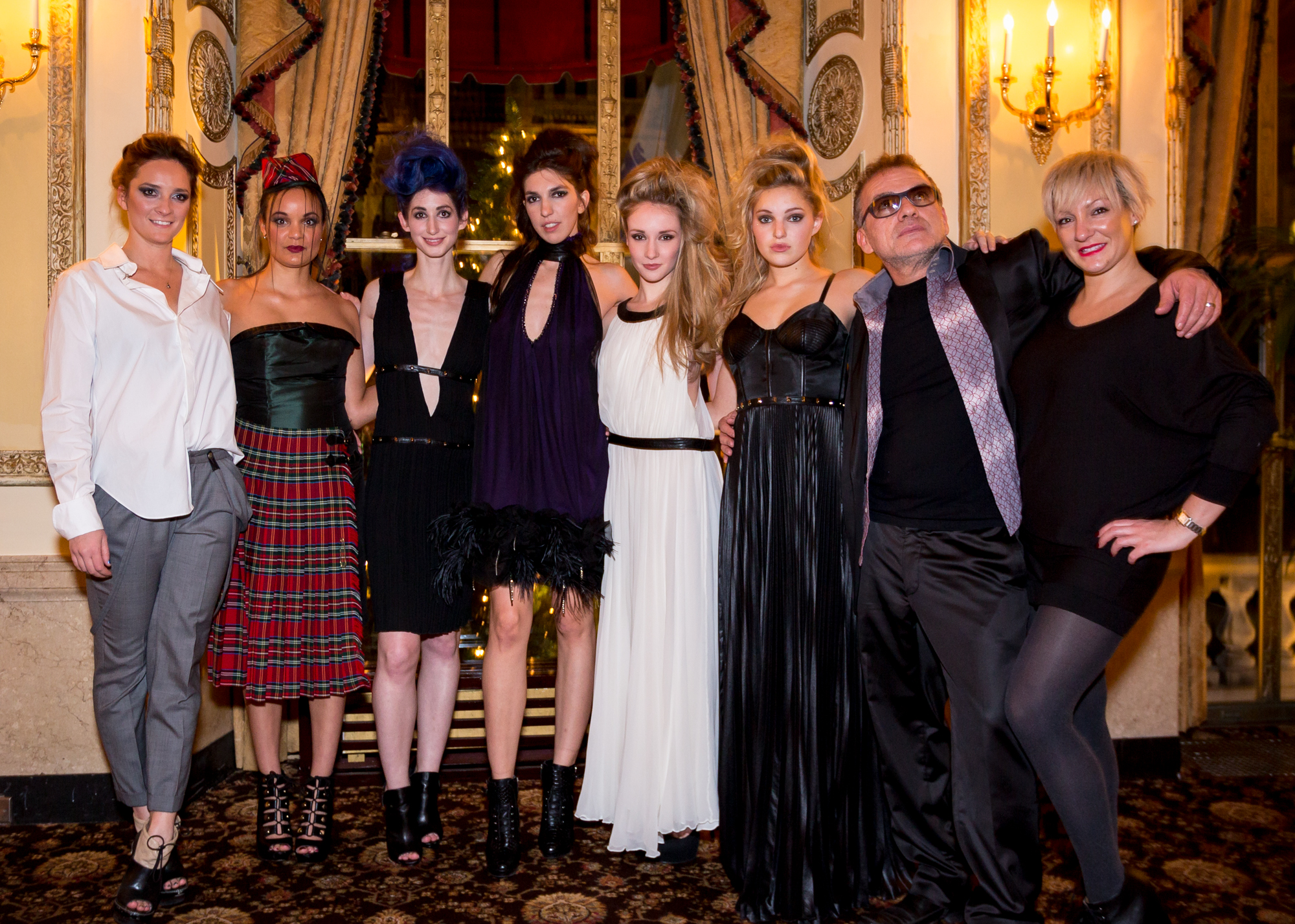 Left, Chynna Pope beside models and artists including Geena Matuson (@geenamatuson) in 'Scene&Style' fashion event. Right, Charles Maksou of Che Maksou. Image by CDA Media.