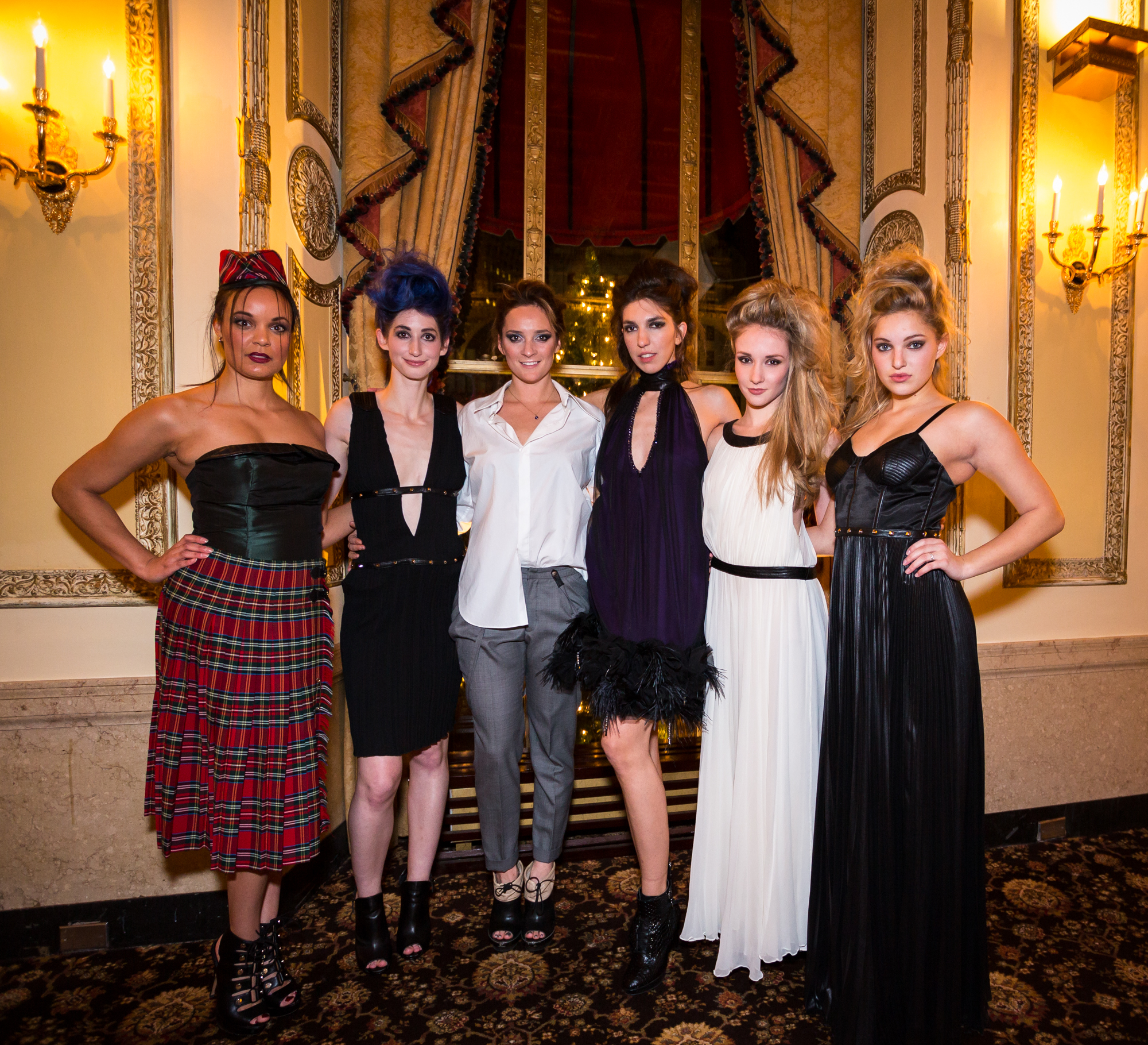 Left, Renee Avi Gadsden, Geena Matuson (@geenamatuson), Chynna Pope, Renée Ricciardi, Jocelyn Kelley, Nicole Spiller in 'Scene&Style' fashion event.