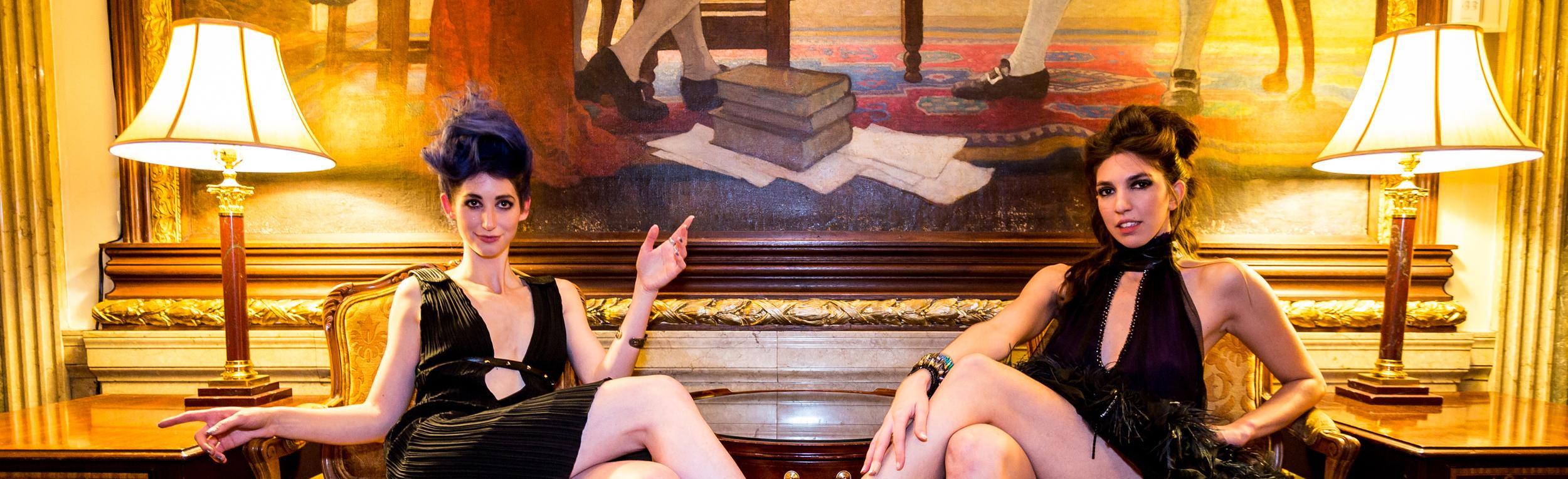 Artists Geena Matuson (@geenamatuson) and Renée Ricciardi. Image by CDA Media.