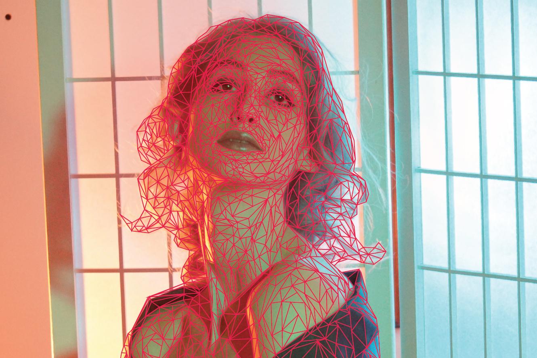 Second, detailed attempt at polygon portrait of Geena Matuson created using Adobe Illustrator.