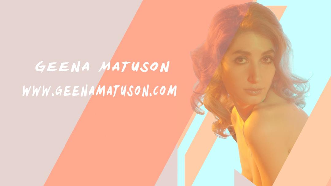 Geena Matuson's new branding online, 2015.