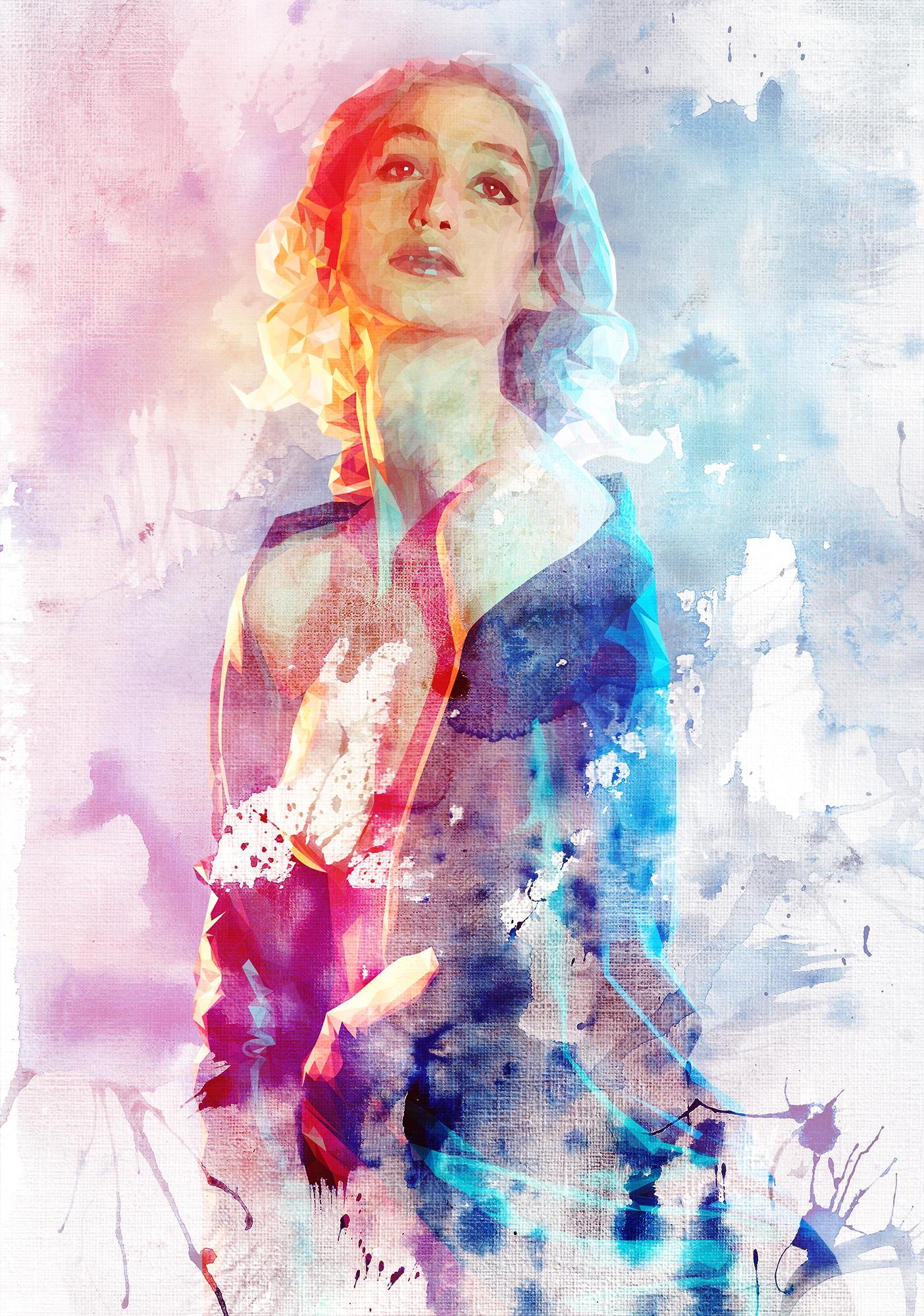 Geena Matuson's new artwork 'Pasteligious Polytrait,' 2015.