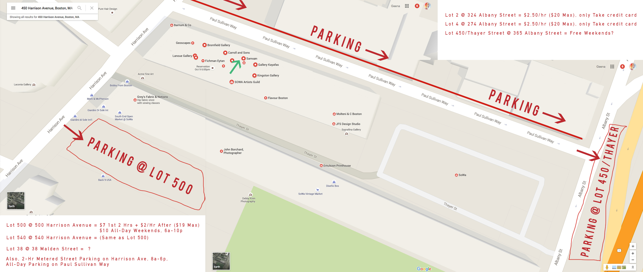 Parking map of SoWa district in Boston.  Click image to enlarge.