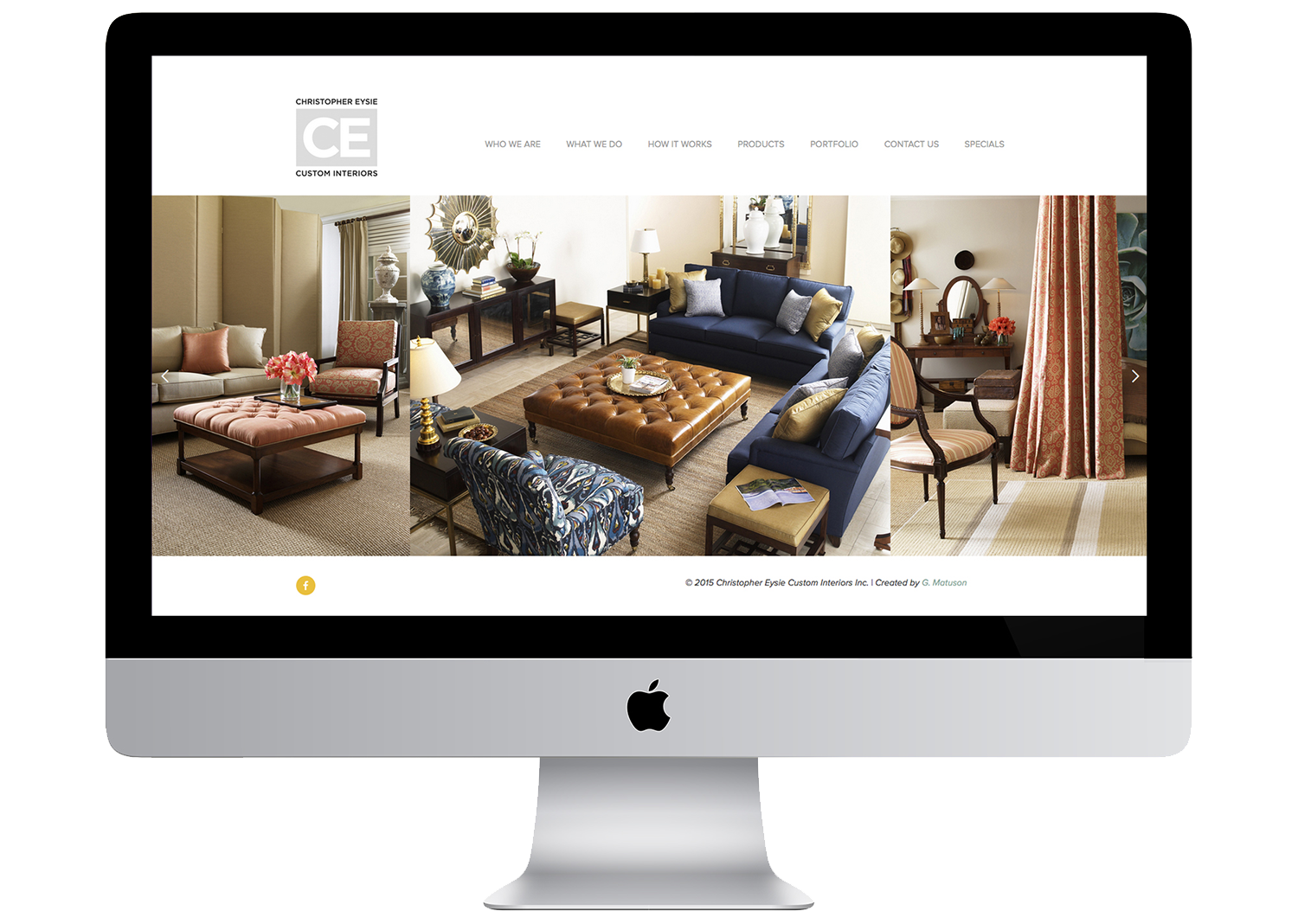 Christopher Eysie Custom Interiors, Website by Geena Matuson
