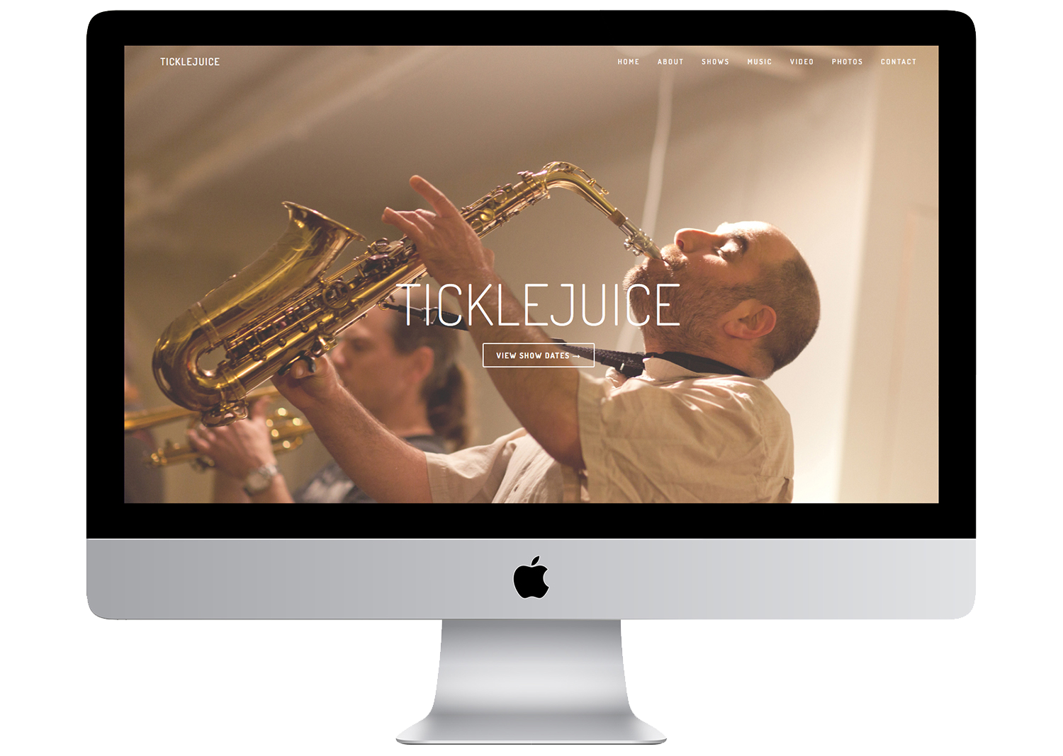 TickleJuice led by James Merenda, Website by Geena Matuson