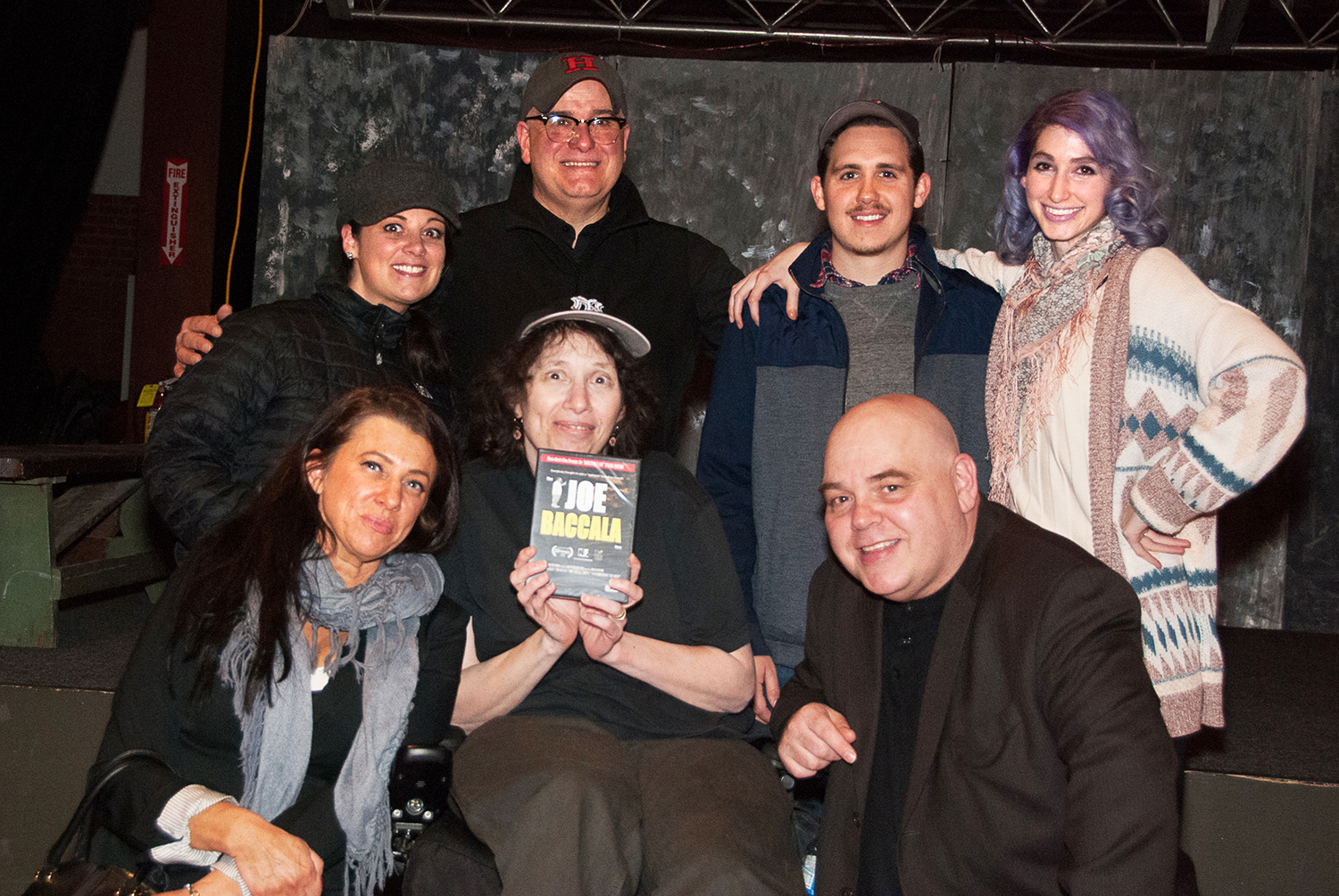 Geena Matuson with members of non-profit Boston Indie Mafia, 2015.
