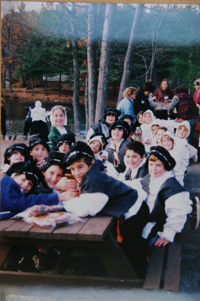 Geena Matuson at the pilgrim field trip in third grade, 1997.