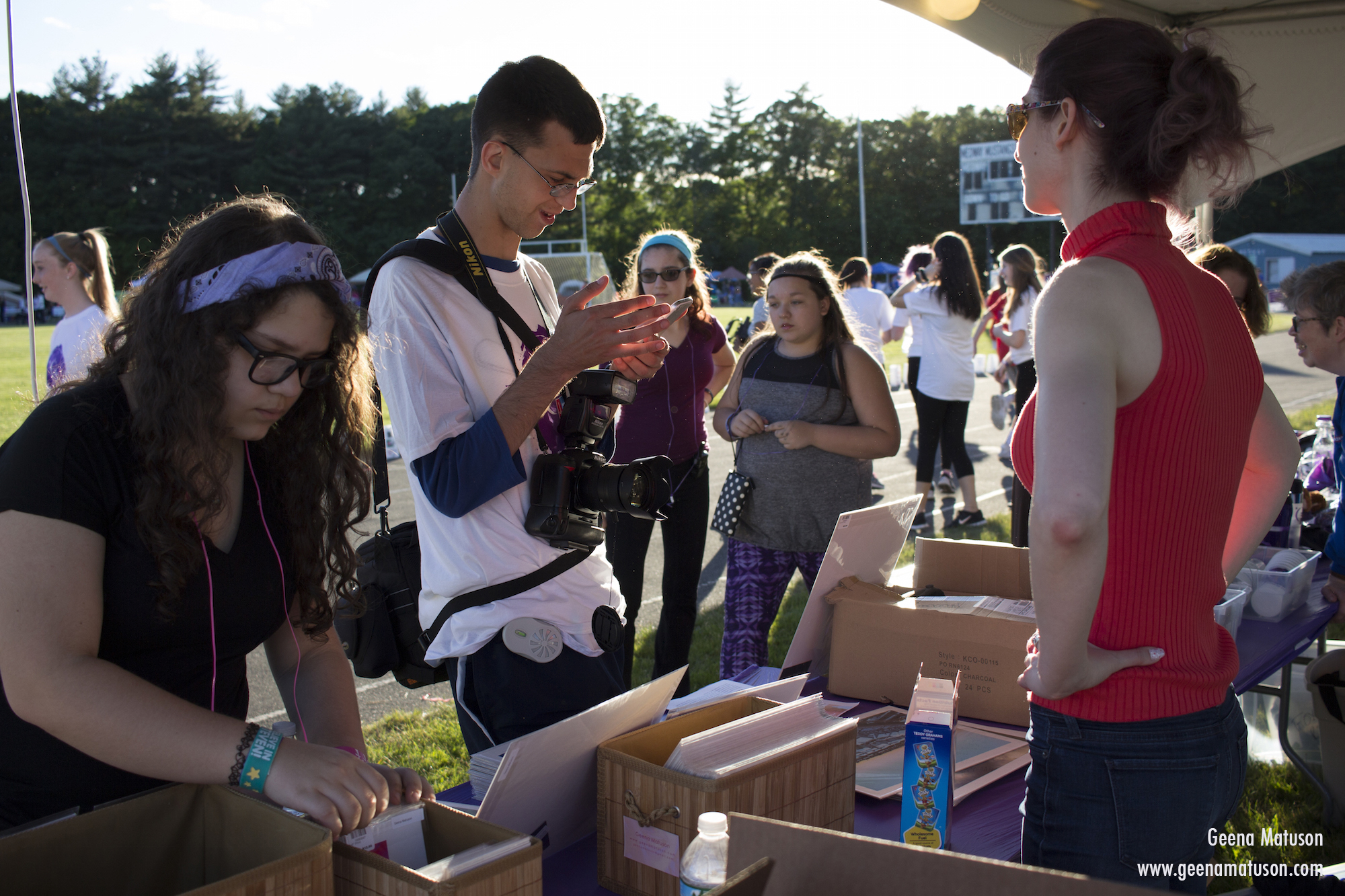 Peter J. Willis and Geena Matuson at Relay for Life in Medway, MA 2016. Photography by Joe Musacchia.
