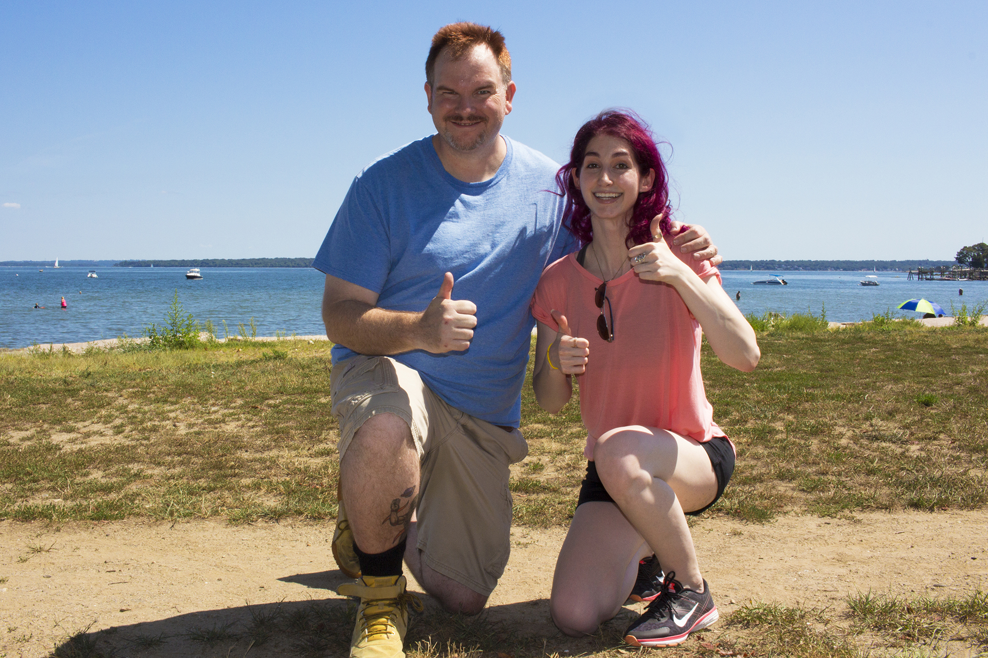 Movie Maker Mike Messier with Producer/Director Geena Matuson in Rhode Island, late 2016.