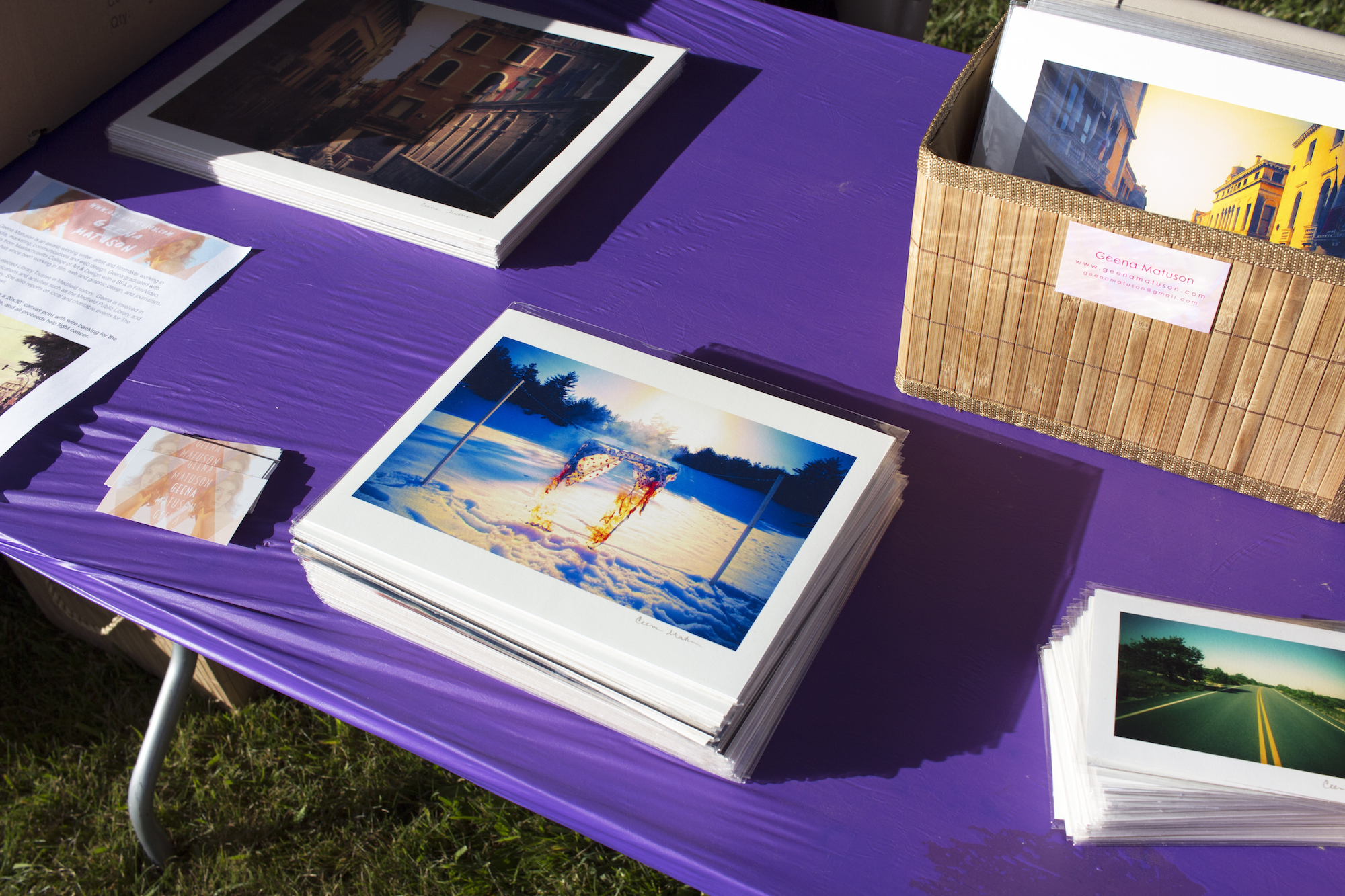 Geena Matuson sells her work for charity at the Relay for Life event in Medway, MA, 2016. Photography by Geena Matuson @geenamatuson #thegirlmirage.