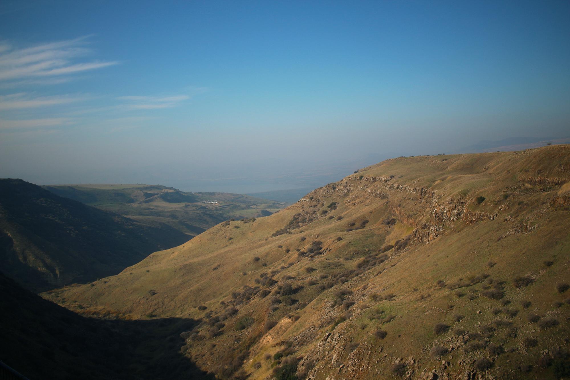 View across Gamla in Golan Heights, Israel. Travel photography by Geena Matuson @geenamatuson #thegirlmirage.