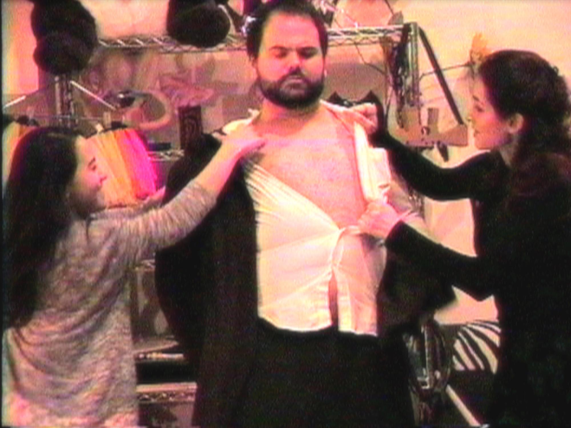 Geena Matuson  (@geenamatuson),  Maya Simone  and Dawn Nightshade directed by John Hartman of  Reel Groovy Films  on the set of his fake commercial shoot, 2016.