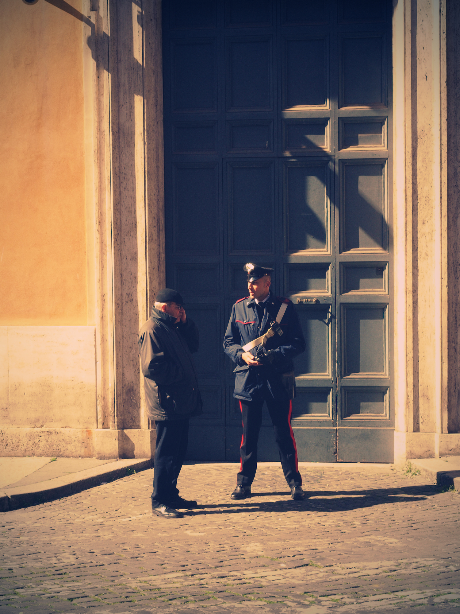 Polizia  / Part of 'Trip To Italy' series by Geena Matuson @geenamatuson, 2011.