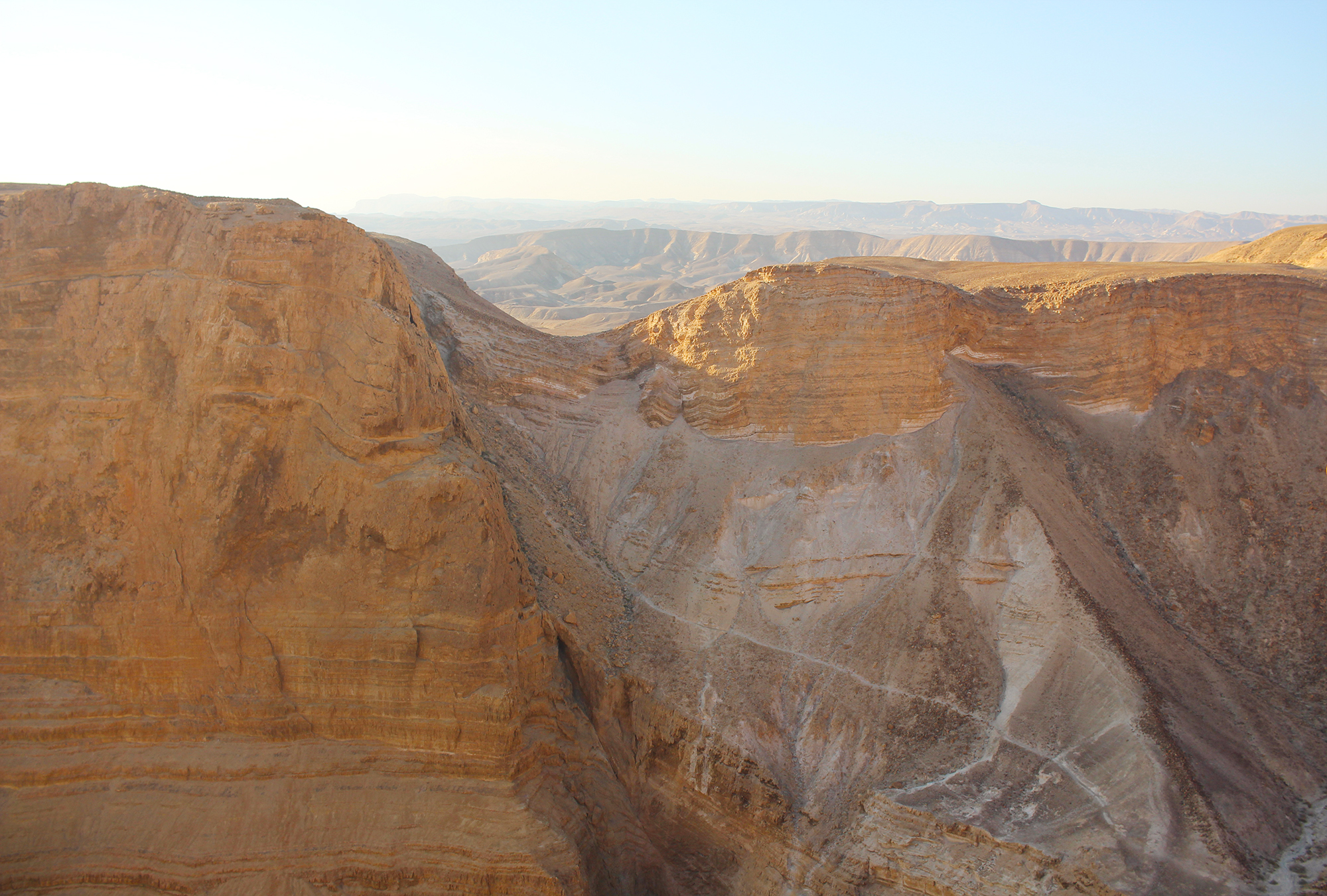 View of Masada in the Negev Desert, Israel. Photography by Geena Matuson, December 2016. Travel photography by Geena Matuson @geenamatuson #thegirlmirage.
