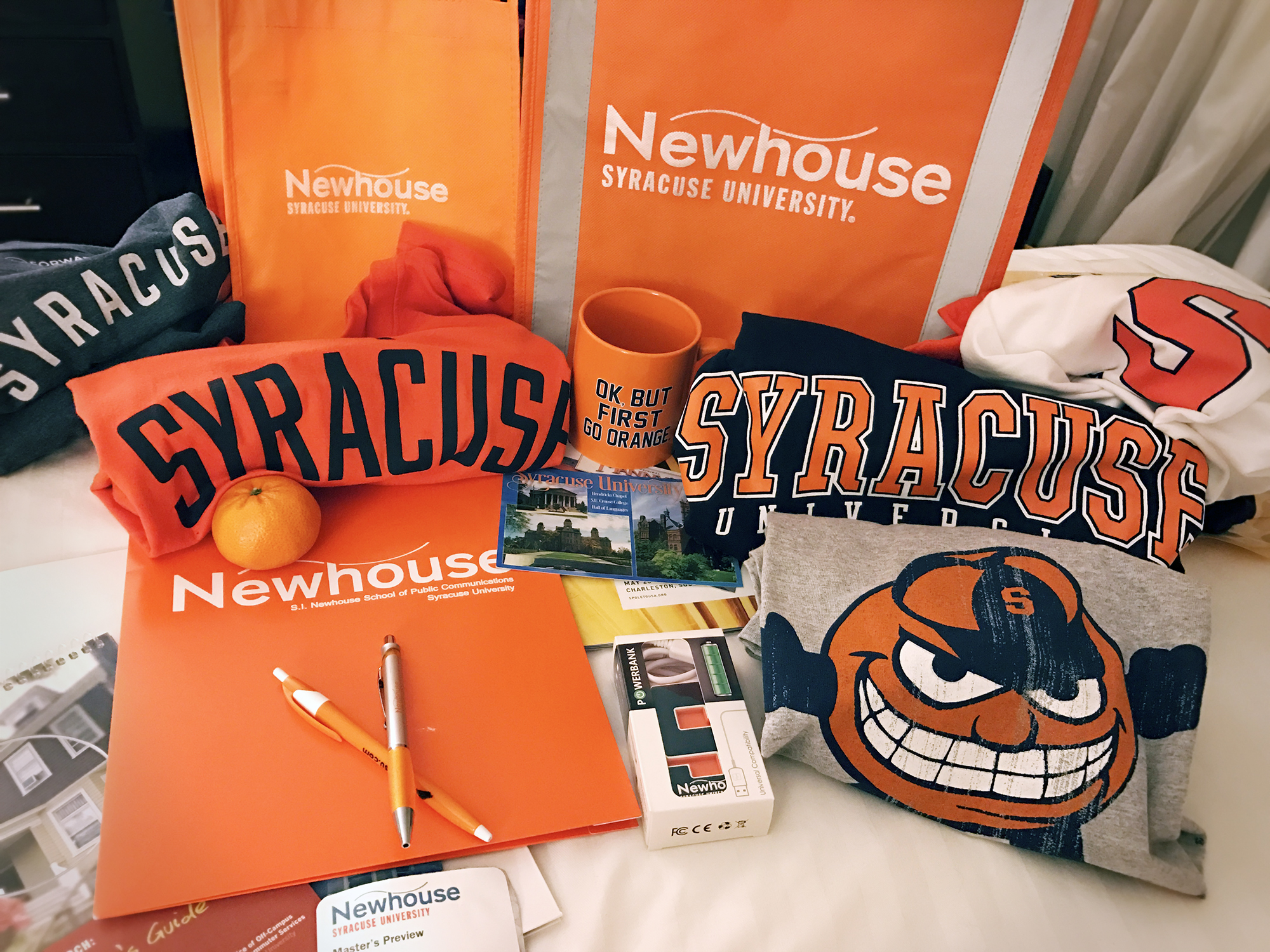 Geena Matuson (@geenamatuson) at Syracuse University Newhouse Masters Programs accepted students 'Preview Day', March 2017.