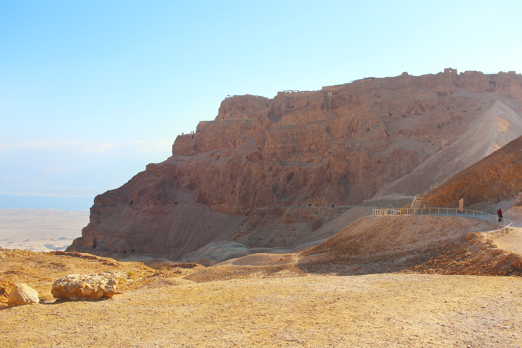 Sunrise hike up Masada in Israel. Travel photography by Geena Matuson @geenamatuson #thegirlmirage.