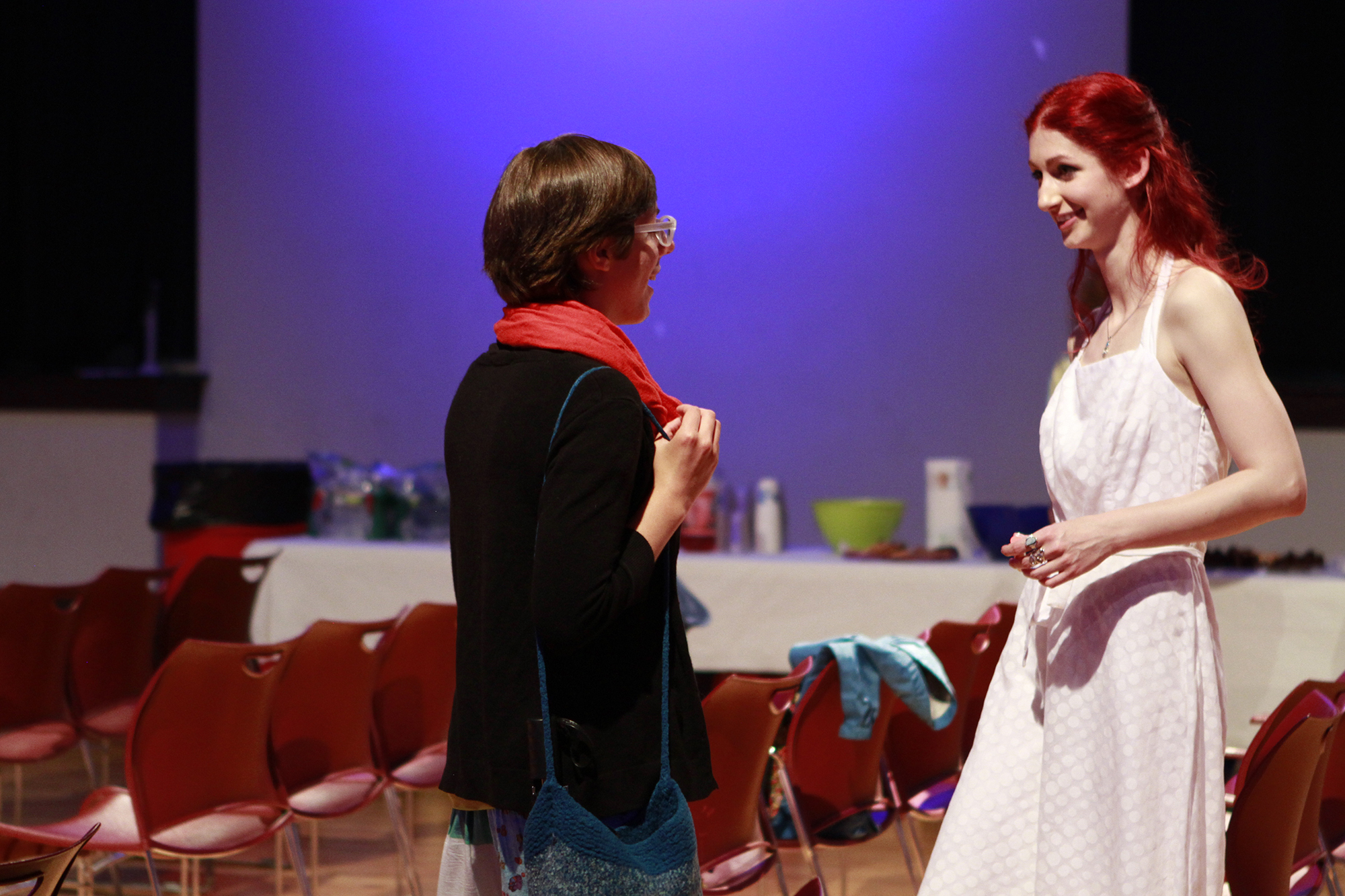Geena Matuson (@geenamatuson) at the premiere of her thesis film 'My Big Bad Wolf,' 2013.