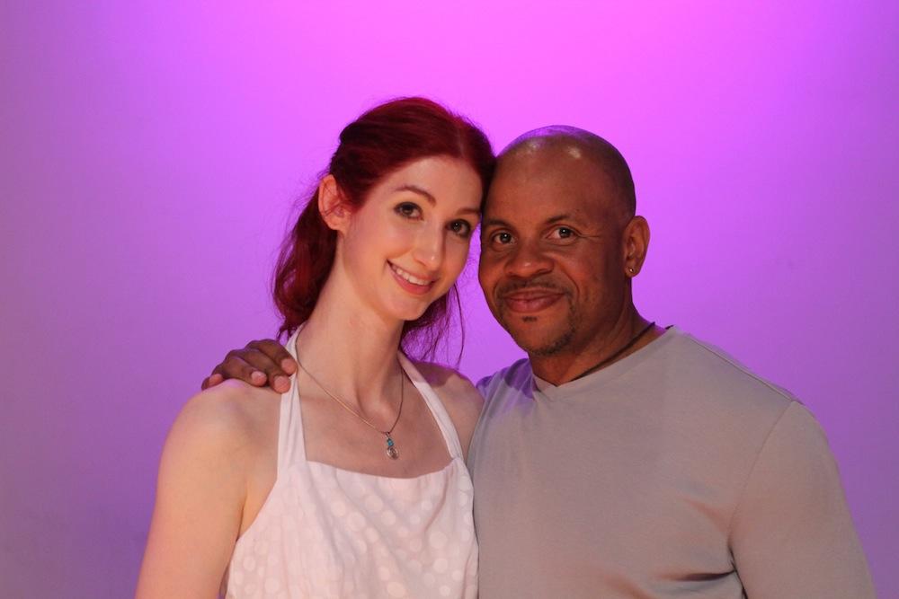 Geena Matuson (@geenamatuson) with friend and teacher Kurt Jackson at the premiere of Matuson's thesis film 'My Big Bad Wolf,' 2013.