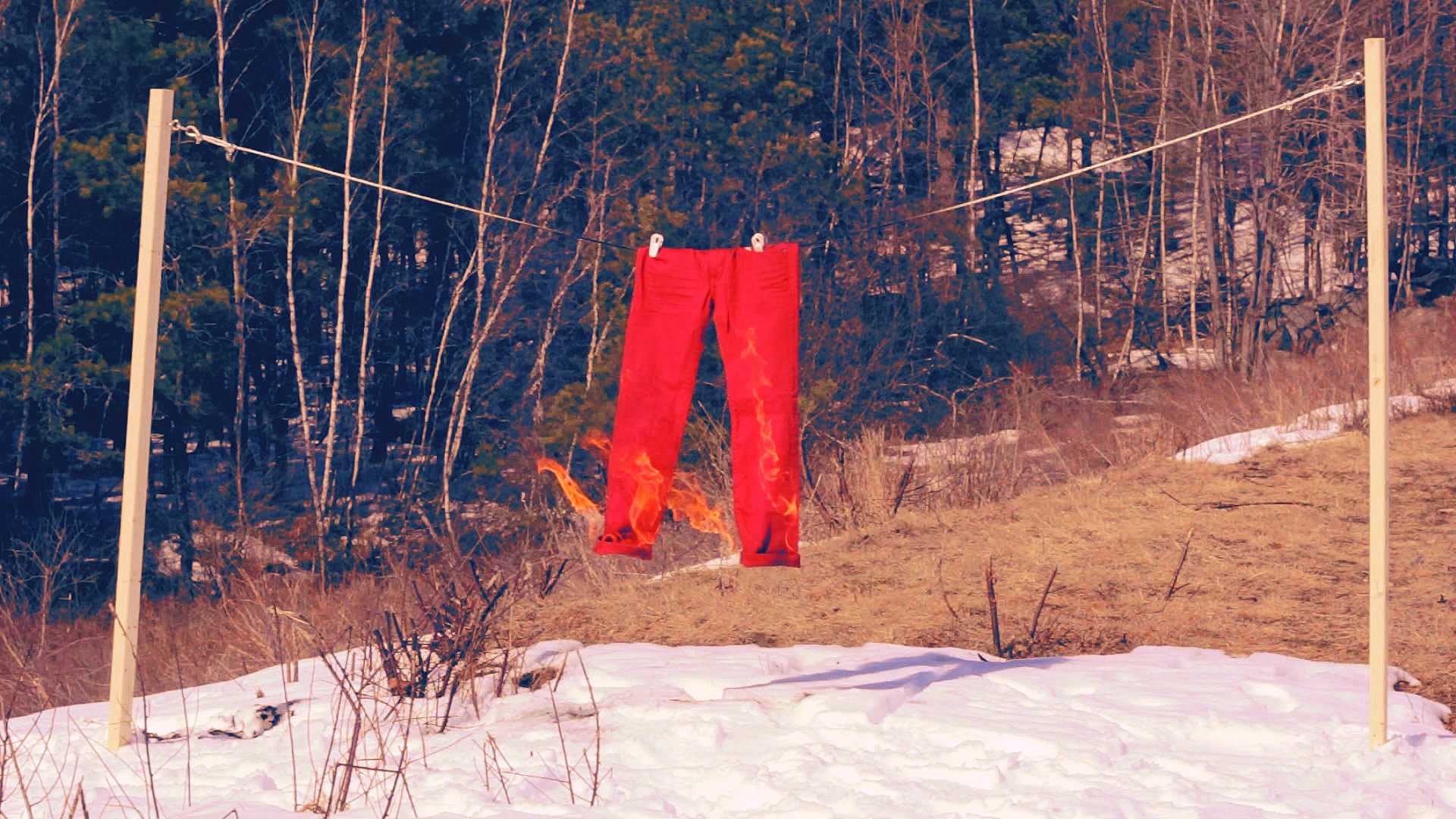 Preview of Geena Matuson's (@geenamatuson) multimedia installation 'Liar Liar' with Jeremy Day in Maine, 2013.