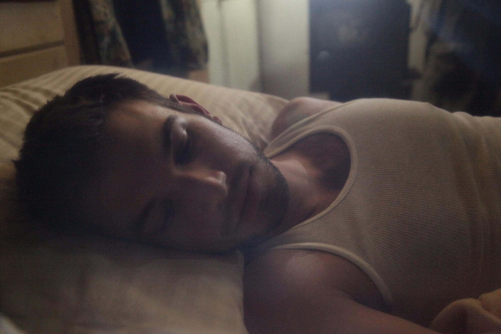Vasilios Asimakos behind the scenes for Geena Matuson's (@geenamatuson) experimental psychological thriller 'My Big Bad Wolf' (2013).