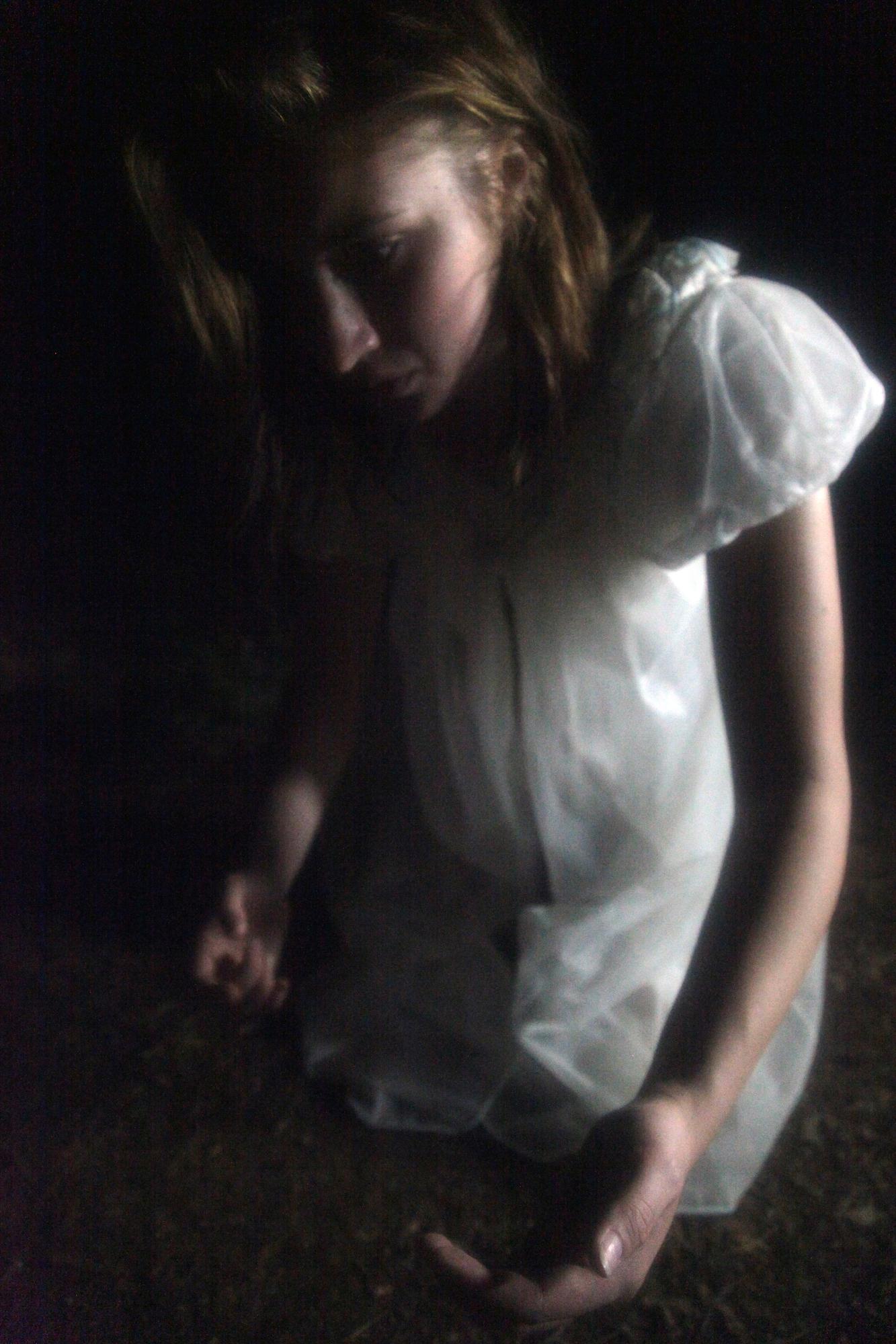 Chelsea Ross Miller behind the scenes for Geena Matuson's (@geenamatuson) experimental psychological thriller 'My Big Bad Wolf' (2013).