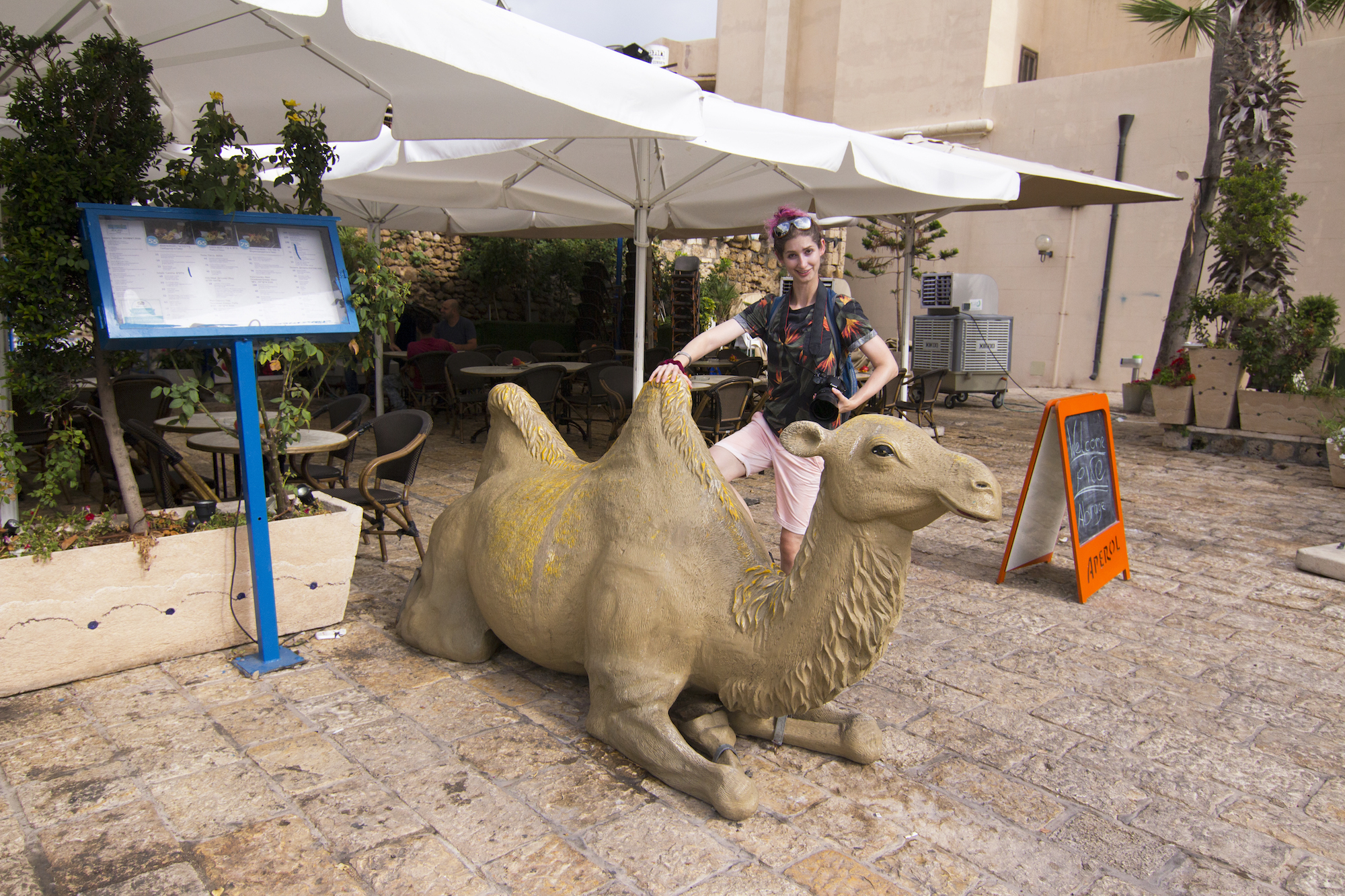Captaining with a camel in Tel Aviv-Yafo. See more #travel photography @geenamatuson #thegirlmirage at thegirlmirage.com.