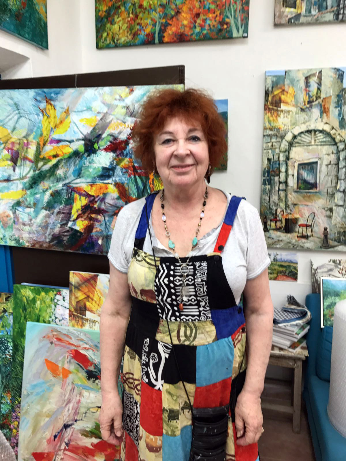 Betty Rubinstein at her studio in Zikhron Ya'akov, Israel, 2017. See more of her work at  www.bettyrubinstein.co.il/en .